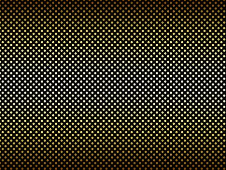 repetition row: Small gradient gold black polka dot background Stock Photo