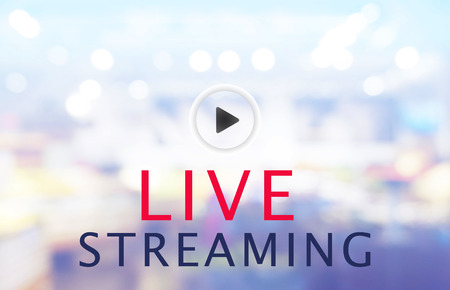 bokeh blur background LIVE STREAMING concept Stock Photo