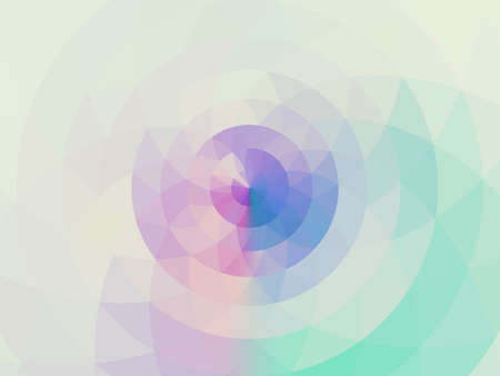 pastel tone: Abstract colorful pastel tone mosaic flower circle background Stock Photo