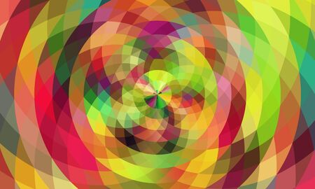 circle shape: Abstract colorful mosaic flower circle shape background