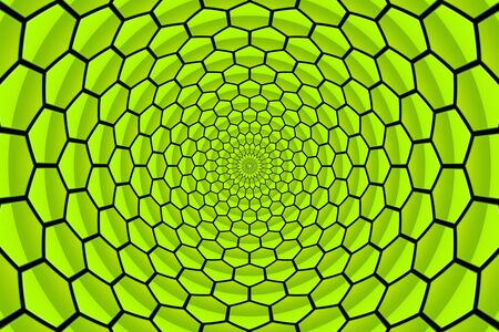 twirl abstract green honeycomb pattern background