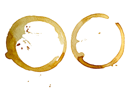 Coffee cup stain isolated on a white background