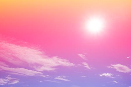 bright gradient colorful sky with sun shining 版權商用圖片