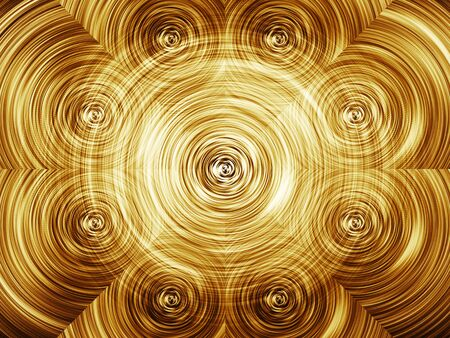 wallpaper copper gold golden: Shiny gold circle twirl texture background Stock Photo