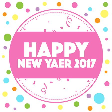 long weekend: HAPPY NEW YEAR 2017 Stock Photo