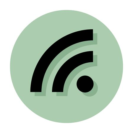 wireless internet: Wireless icon or sign for internet access, vector symbol