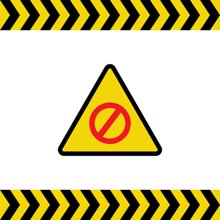 Warning sign illustration on white background