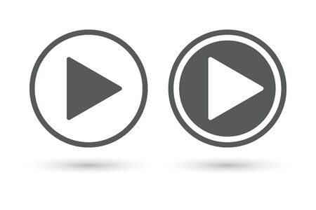 再生アイコン ボタン  イラスト・ベクター素材