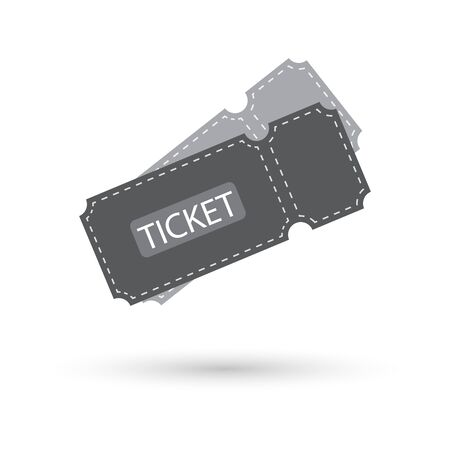 Ticket icon on white background Illustration
