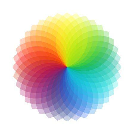 Rainbow Swirl, Vector Illustration Illusztráció