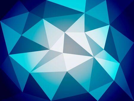 Witte blauwe geometrische vectorillustratie, veelhoekige achtergrond