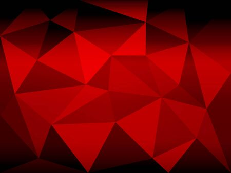 Red black geometric vector illustration, polygonal background Çizim