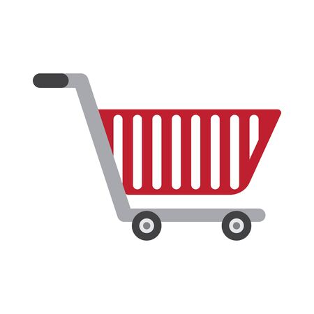 Shopping cart commercial icon, vector illustration