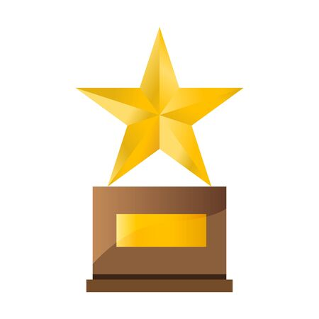 Trophy star winner award, vector illustration