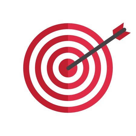 Target arrow success isolated on white background, vector icon