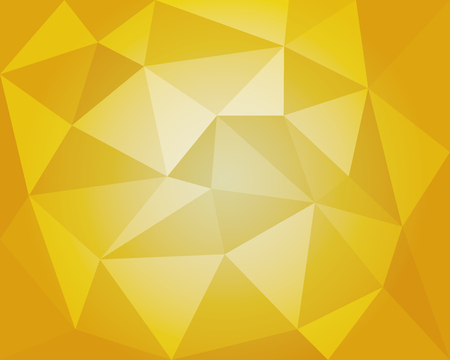 Yellow white geometric vector illustration, polygonal background Çizim