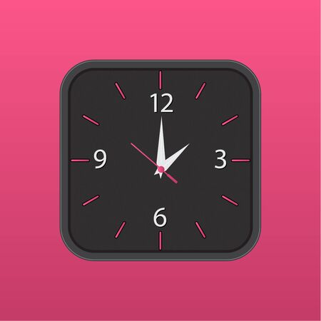 Wall clock vector icon