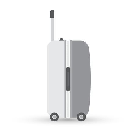 회색 여행 가방 또는 가방입니다. 흰색으로 격리. 벡터 일러스트 레이 션 일러스트