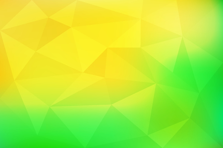 Green and yellow gradient abstract mosaic, geometric low poly style, vector illustration design Çizim
