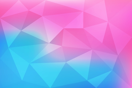 Blue and pink gradient abstract mosaic, geometric low poly style, vector illustration design Çizim