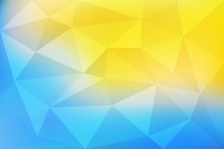 Blue and yellow gradient abstract mosaic, geometric low poly style, vector illustration design Vettoriali