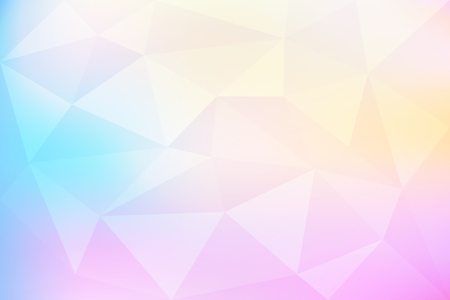 Pastel gradient abstract mosaic, geometric low poly style, vector illustration design