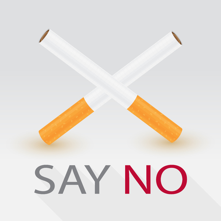 Say no to cigarette concept, vector illustration