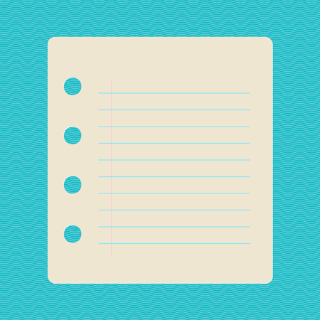 Small note paper sheet, vector illustration 向量圖像