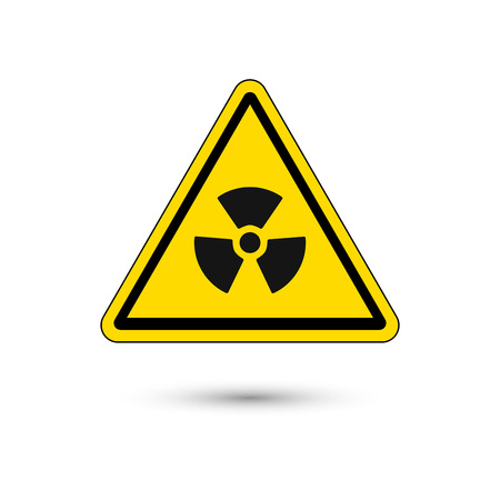 Nuclear sign button on white background, Vector Illustration