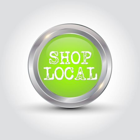 Shop local badge, vector illustration.