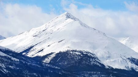 mountain covered with snow in National Park