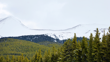 mountains covered with snow in National Park