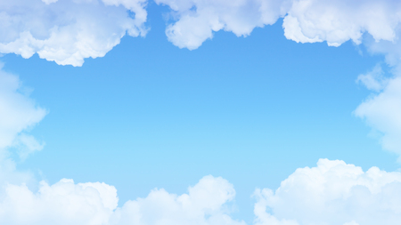 Blue sky and clouds nature background with copy space Standard-Bild