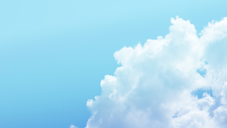 Blue sky and clouds nature background with copy space Lizenzfreie Bilder