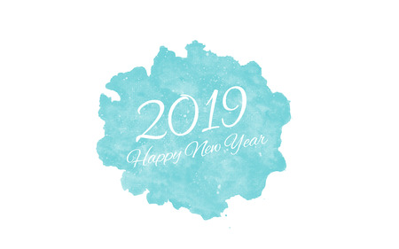 2019 Happy New Year Greeting Card Stok Fotoğraf