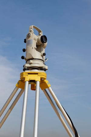geodetic: Theodolite with blue sky as background