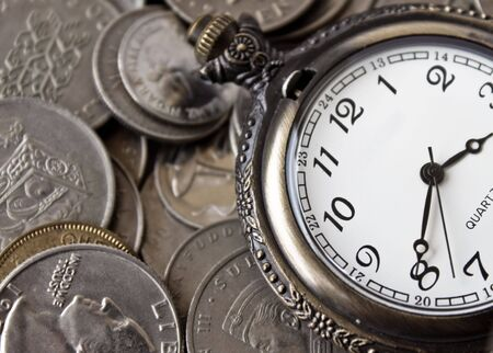 A concept of time being more important than money Stock Photo - 6627924