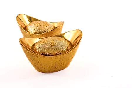 Gold nuggets used as currency in ancient China.