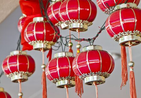 newyears: Lanterns displayed for Chinese New Year celebration