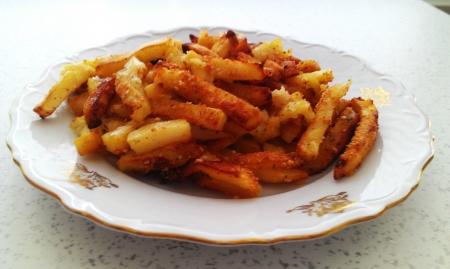 spiced: Roasted Spiced Potato Stock Photo