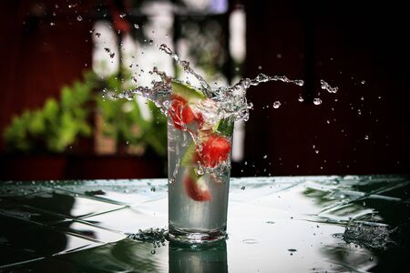 splashing: Splashing Stock Photo