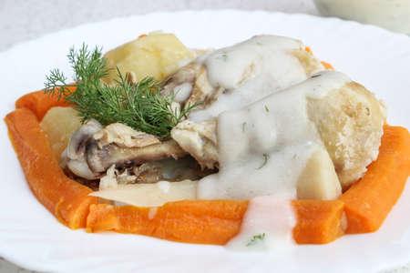 finocchio: Pollo con salsa di finocchio