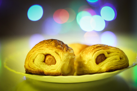 rolled: Rolled pastry with hot dog