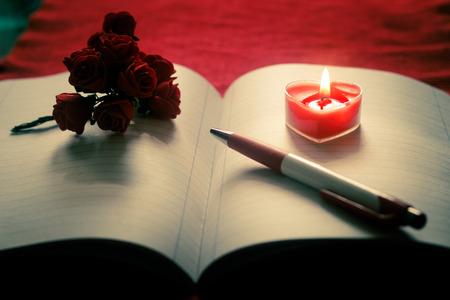 empty: Empty book of love Stock Photo
