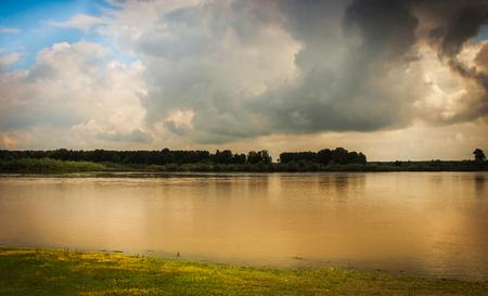 serbia: River Sava, Sabac, Serbia Stock Photo