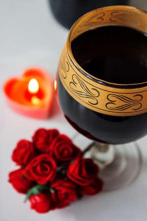 goblet: Wine in a goblet
