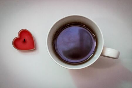 Cup of coffee and heart