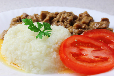 Rice and goulash Banque d'images
