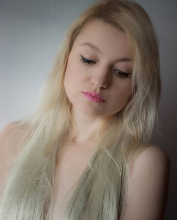 Blonde with long hair