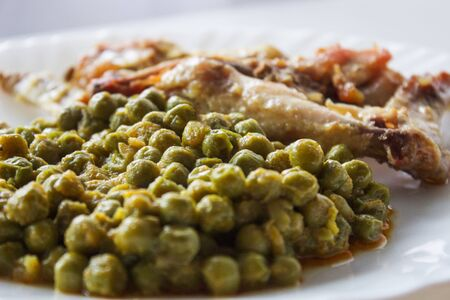Peas and meat
